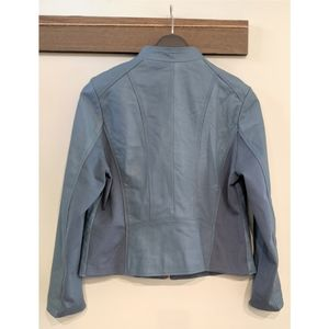 Neiman Marcus Jackets & Coats - Neiman Marcus Exclusive XL Blue Leather Jacket